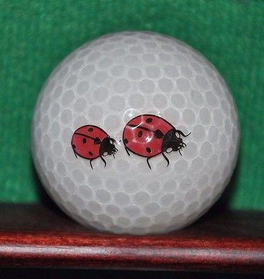 Ladybug Pair logo golf ball. Crystal