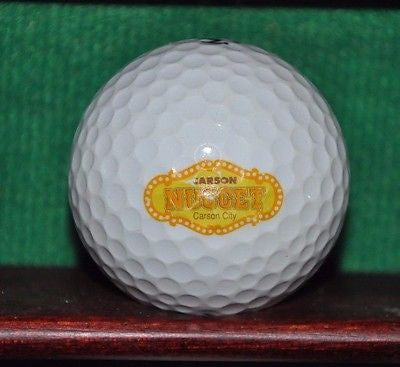Carson Nevada Nugget Hotel and Casino logo golf ball. TaylorMade Noodle