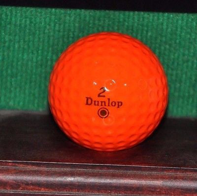 Vintage Maxfli Dunlop Electric Orange golf ball. Mint Condition