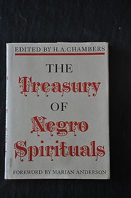 The Treasury of Negro Spirituals HC H. A. Chambers.