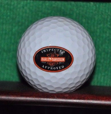 Harley Davidson Motorcycles logo golf ball. Excellent condition.
