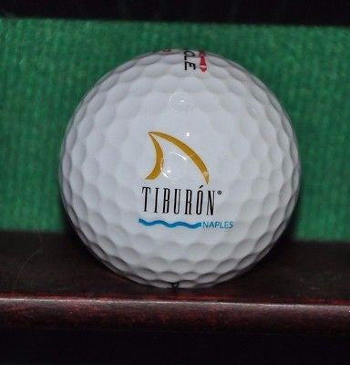 Tiburon Golf Club at the Ritz Carlton Resort Naples Florida logo golf ball.