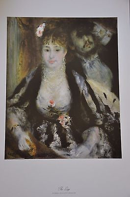 "The Loge by Pierre Auguste Renoir Fine Art Print 17"" x 11"""