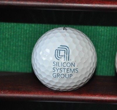 Silicon Systems Group logo golf ball. Titleist Pro V1