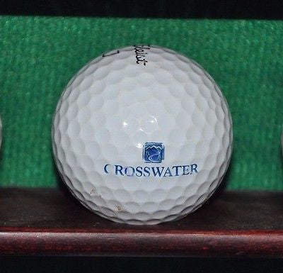 Crosswater Golf Course Sunriver Oregon logo golf ball. Titleist Pro V1