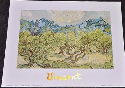 "Landscape with Olive Trees by Vincent Van Gogh Art Print Poster 12"" X 9"" EGIM"
