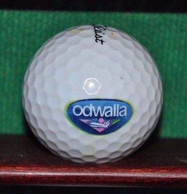 Odwalla Juice logo golf ball. Titleist.