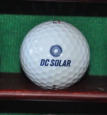 DC Solar Solutions logo golf ball. Excellent condition.