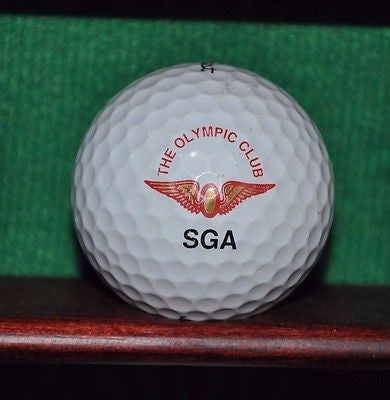 The Olympic Club San Francisco logo golf ball. Titleist Pro V1