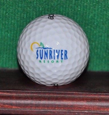 Sunriver Resort in Bend Oregon logo golf ball.