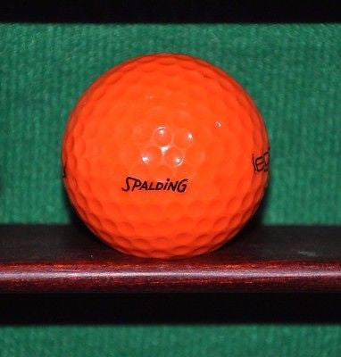 Vintage Spalding Legacy Electric Orange Golf Ball.