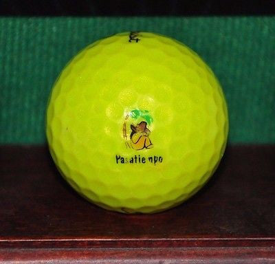 Pasatiempo Golf Club Santa Cruz logo golf ball. Titleist Yellow