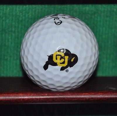 Colorado University Buffalo NCAA PAC 12 logo golf ball. Callaway