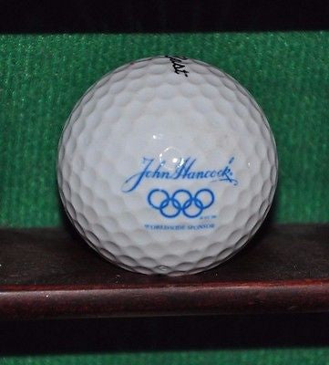 John Hancock Insurance Worldwide Olympic Sponsor logo golf ball. Titleist