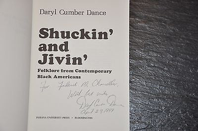 Shuckin and Jivin Folklore from Contemporary Black Americans Daryl Dance Signed