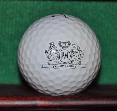 Philip Morris Tobacco logo golf ball. Nike One