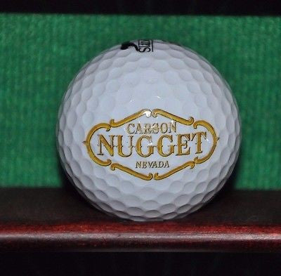 Carson Nevada Nugget Hotel and Casino logo golf ball. Slazenger