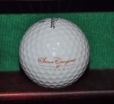 Seven Canyons Golf Club Sedona Arizona logo golf ball. Titleist Pro V1
