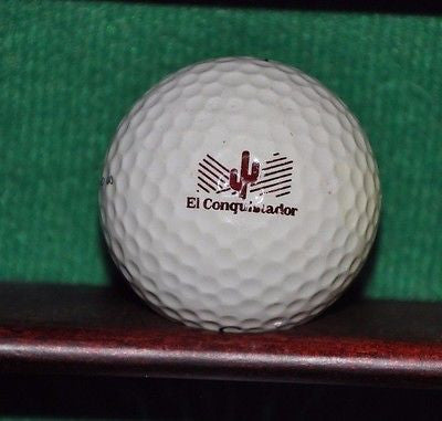 Vintage El Conquistador Golf Club Tucson Arizona logo golf ball. Slazenger.