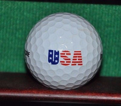 USA American Flag Motif logo golf ball. Bridgestone Tour B330