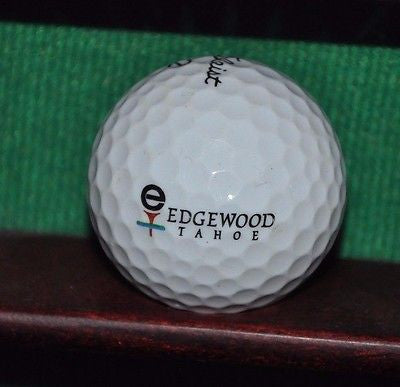 Edgewood at Tahoe Golf Club logo golf ball. Titleist.