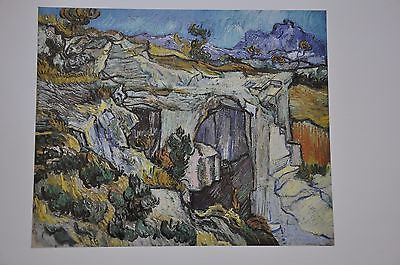 "Entrance to a Quarry by Vincent Van Gogh Fine Art Print 17"" x 11"""