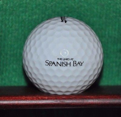The Links at Spanish Bay Pebble Beach logo Ball. Titleist Excellent Condition.