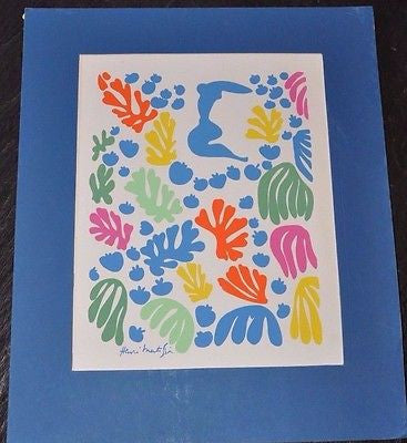 "Henri Matisse The Mermaid Serigraph Print 11"" x 14"""