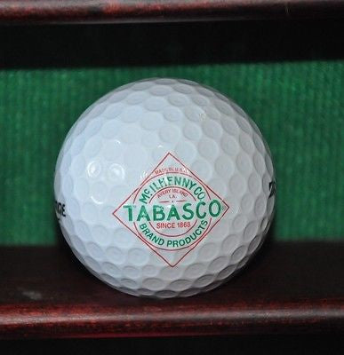 McIlhenny Co. Tabasco Sauce logo golf ball. Bridgestone.
