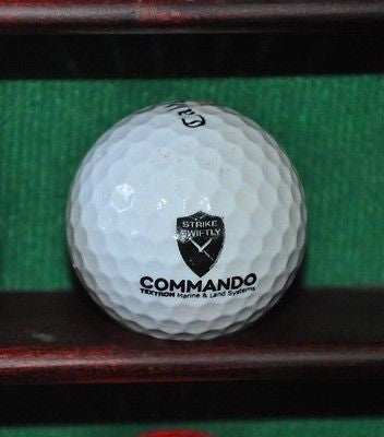 Commando Textron Marine and Land Systems logo golf ball. Callaway.