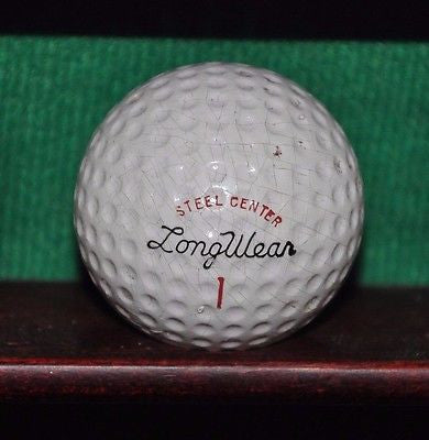 Vintage LongWear Steel Center golf ball.