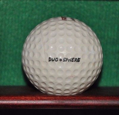 Vintage Spalding Rebel golf ball duo sphere.