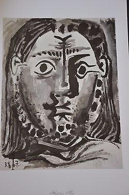 "Head of a Man by Pablo Picasso Fine Art Print 17"" x 11"""