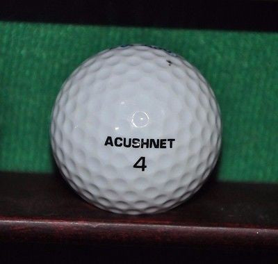 Vintage Acushnet Club Special golf ball with Adaptec Company Logo