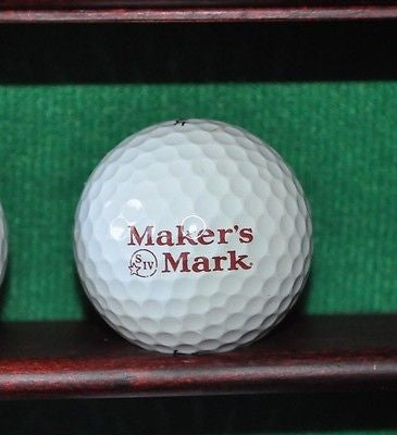 Maker's Mark Bourbon logo golf ball. Titleist Pro V1.