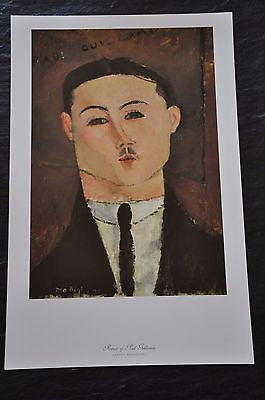 "Portrait of Paul Guillaume by Amedeo Modigliani Fine Art Print 17"" x 11"""