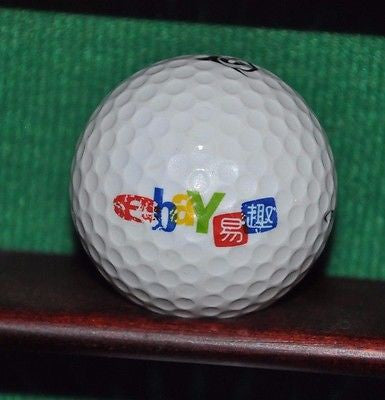 Ebay Corporation logo golf ball.