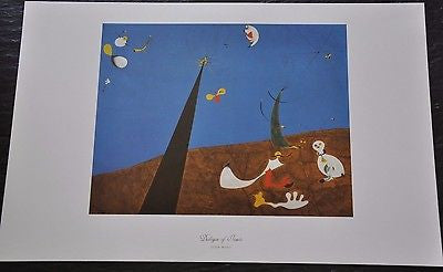 "Dialogue of Insects by Joan Miro Fine Art Print 17"" x 11"""