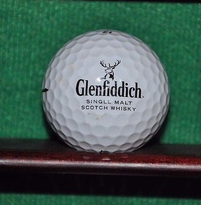 Glenfiddich Single Malt Scotch Whiskey logo golf ball. Titleist Pro V1