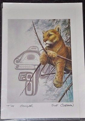 Large Print Card by Sue Coleman called The Cougar measuring 9x6""