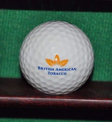 British American Tobacco Company logo golf ball.  Nike.