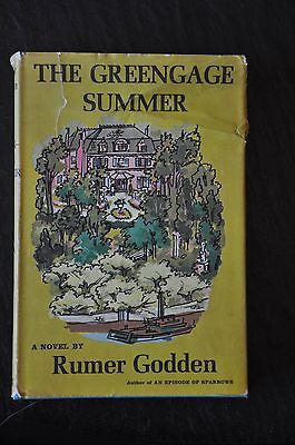 Vintage 1958 HC W/ Dust Jacket The Greengage Summer By Rumer Godden