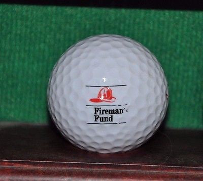 Fireman's Fund logo golf ball