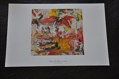 "Untitled (Red, Yellow, and Green) by Willem de Kooning Fine Art Print 17"" x 11"""