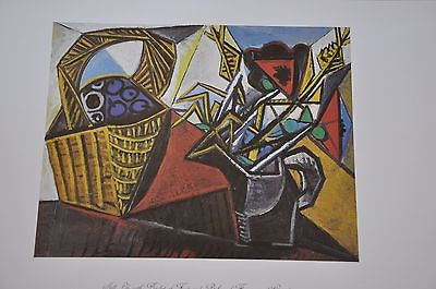 "Still Life with Basket of Fruit by Pablo Picasso Fine Art Print 17"" x 11"""