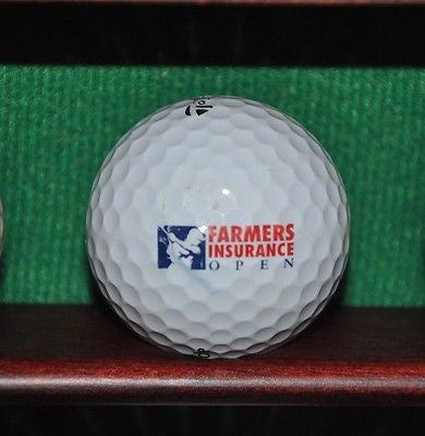 Farmers Insurance Open Torrey Pines San Diego logo golf ball. TaylorMade Penta