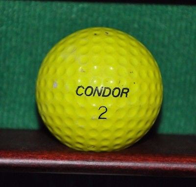 Vintage Yellow Condor golf ball.
