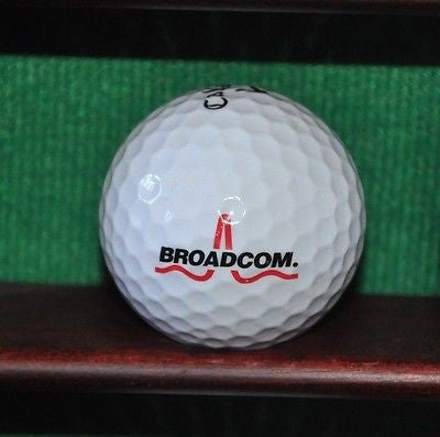 Broadcom Semiconductor Company logo golf ball. Callaway.