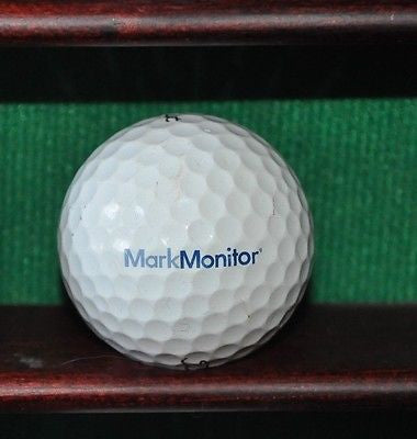 MarkMonitor Software Company logo golf ball. Titleist Pro V1