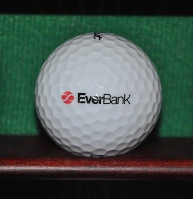 Everbank logo golf ball. Titleist.